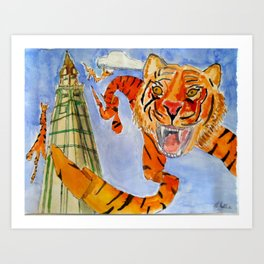 Tiger rug kites Art Print