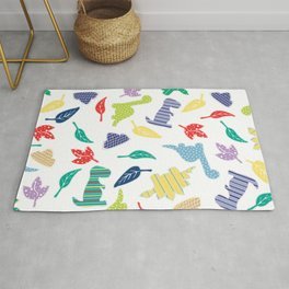 Colorful Dinosaur Pattern Rug