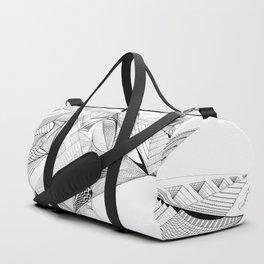 Geometric Architectural Bird-01 Duffle Bag