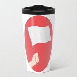 White Flag Travel Mug