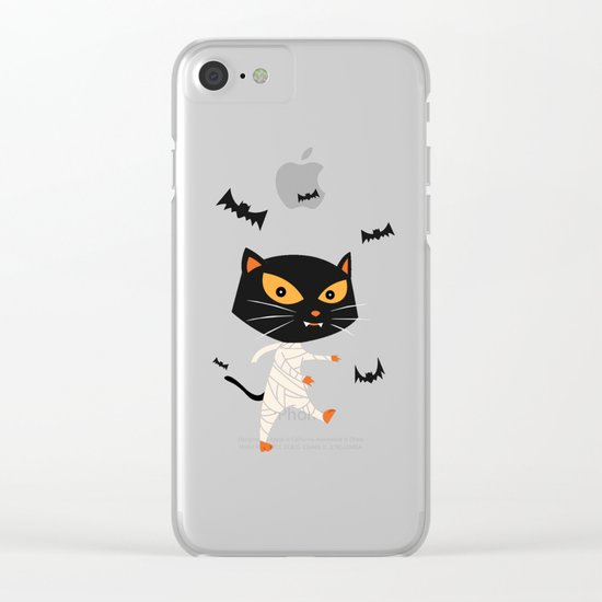 Mummy Cat Clear iPhone Case