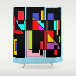 Muchos colores Shower Curtain
