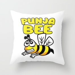 Punja Bee Punjabi Indian Humor Throw Pillow