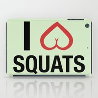 crossfit iPad Cases featuring Squat Love by Free Specie