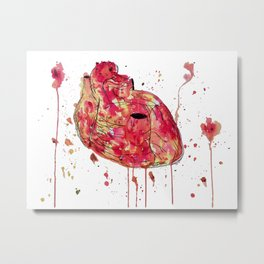 Carapace Heart Metal Print