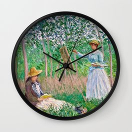Claude Monet - In The Woods Wall Clock