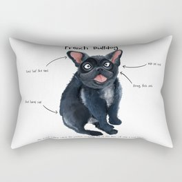 F is for French Bulldog Rectangular Pillow