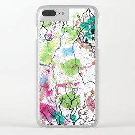 LOVE HAS A REASON by mrs Wilkes Clear iPhone Case
