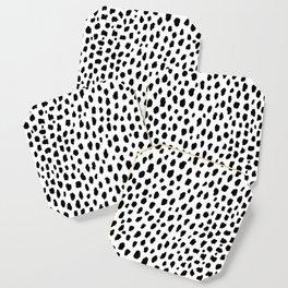 Dalmatian Spots (black/white) Coaster
