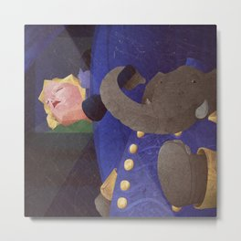 A-Z Animal, Elephant U**er - Illustration Metal Print