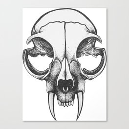 Rare Persian Smilodon Skull. Canvas Print