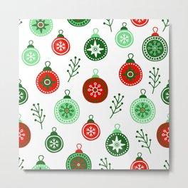 Christmas Decorations Pattern Metal Print