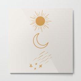 Sun, Moon and Stars #society6 #buyart Metal Print