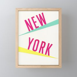 New York Framed Mini Art Print