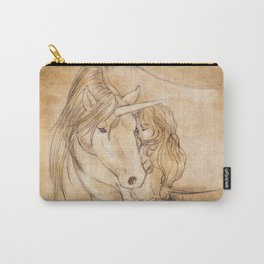A Girl and Her Unicorn  Carry-All Pouch