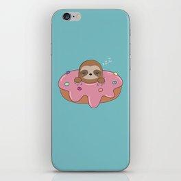 Kawaii Cute Donut Sloth iPhone Skin