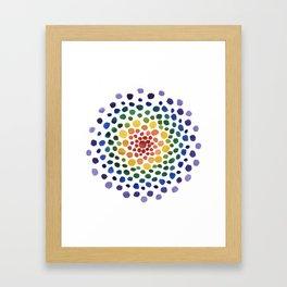 Circle Mosaic Framed Art Print