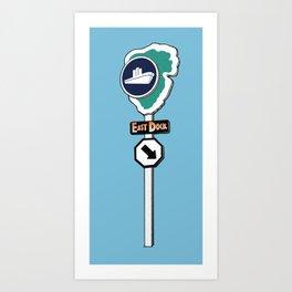 Jurassic Park - East Dock Sign Art Print