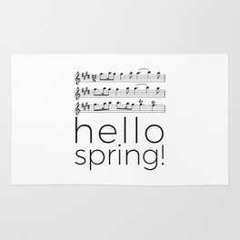 Hello spring! (white) Rug