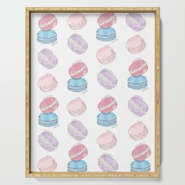 Macaron Pattern ~ Rose, Lavender, Earl Grey, Strawberry Serving Tray