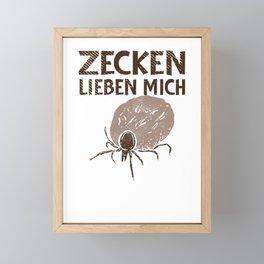 Gardening Ticks Forestry Landscaper Wood Framed Mini Art Print
