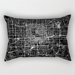 Beijing Black Map Rectangular Pillow