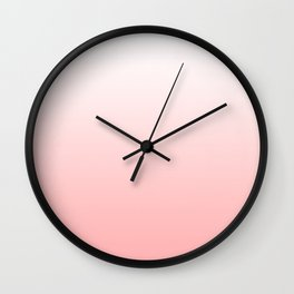 Red and white background Wall Clock