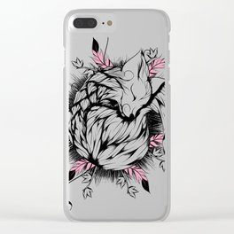 Little Fox Pink Version Clear iPhone Case