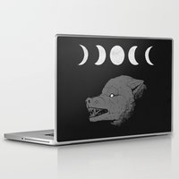 moon phase Laptop & iPad Skins featuring Just a Phase by Natte