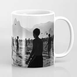 Beach Soccer at Ipanema Coffee Mug