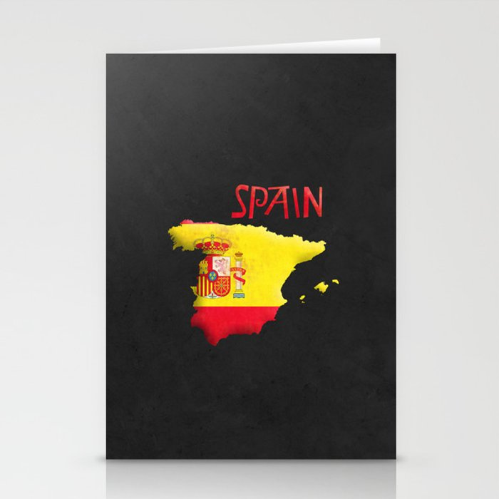Spain Vintage Map Stationery Cards