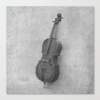 kindle Canvas Prints featuring The Cello  by Terry Fan