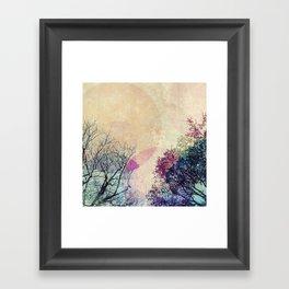 2 Trees Framed Art Print