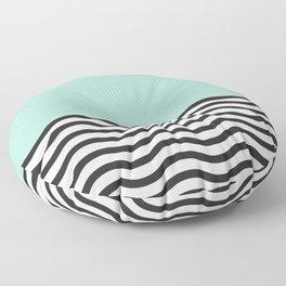 Waves of Green Floor Pillow