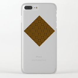 Abstract Moroccan Tiles Clear iPhone Case
