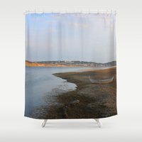 maine Shower Curtains featuring Maine Footbridge by Thanks for the Memories
