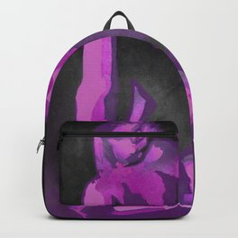 Beautiful Young Woman Wearing Plaits and Panties (Purple) Backpack