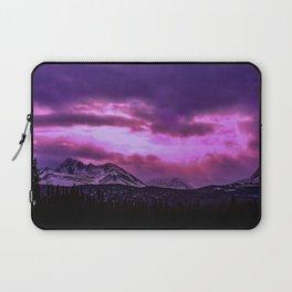 Chugach Mountains in Purple - II Laptop Sleeve