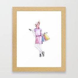 Penny the Parakeet Framed Art Print