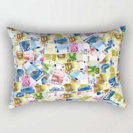 Colorful Euros Pattern - Money - LOA - Abundance - Cash Rectangular Pillow