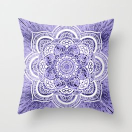 Mandala Lavender Colorburst Throw Pillow
