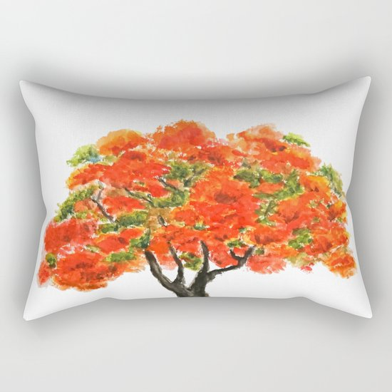 flame of the forest tree Rectangular Pillow