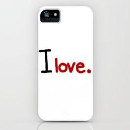 I love - Red iPhone Case