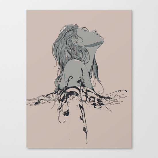 Floating in The Rhythm Canvas Print