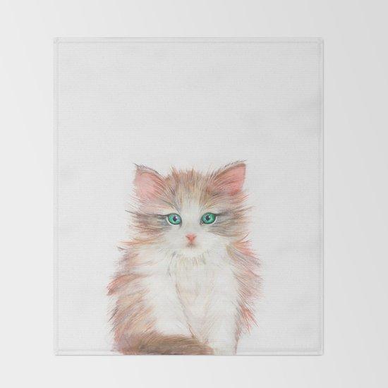 Little Kitten Throw Blanket