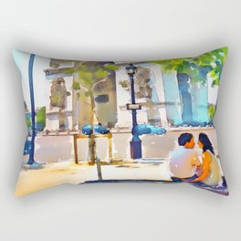 The Arc de Triomphe Paris Rectangular Pillow