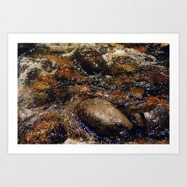 Stream and Stones Art Print