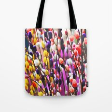 Abstract Pussy Willows Tote Bag
