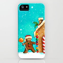 Christmas gingerbread party iPhone Case