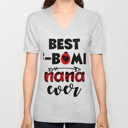 Best F Bomb Nana Ever T shirt Gift Unisex V-Neck
